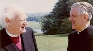 De Kardinaal samen met aartsbisschop Ramsey van Canterbury